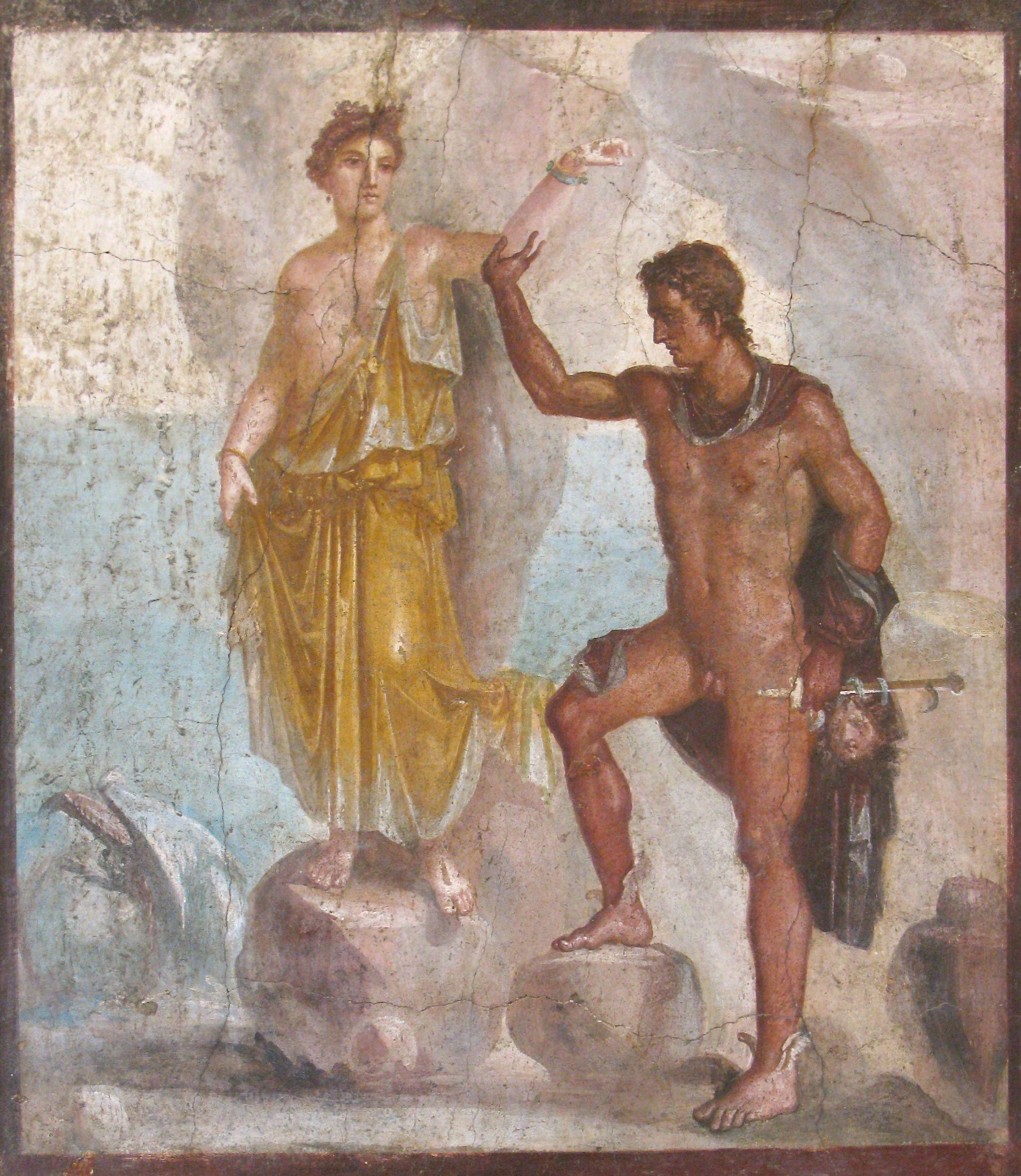 Perseo Y Andrómeda Casa De Los Dioscuros Pompeya Pompeya Producción Artística Arte Romano