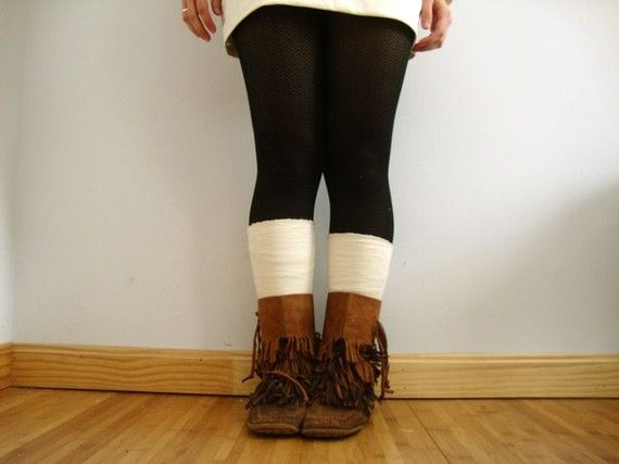 love the tights, leg warmers, and boots here