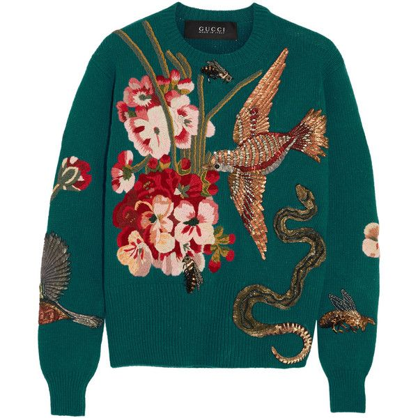 gucci embroidered wool sweater ($5,890) ❤ liked on polyvore  gucci embroidered wool sweater ($5,890) ❤ liked on polyvore featuring tops, sweaters, blue, colorful sweaters, embroidered sweaters, bird sweater,