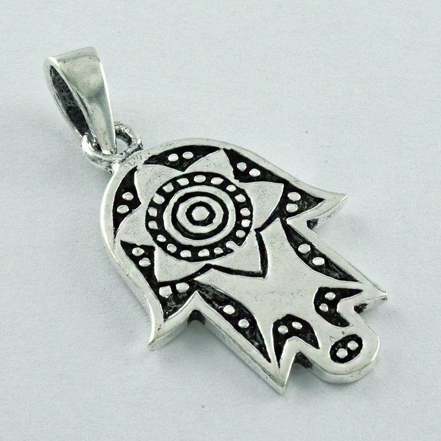 FATIMA HAND 925 SOLID STERLING SILVER PENDANT FOR RELIGIOUS PEOPLE'S  #SilvexImagesIndiaPvtLtd #Pendant