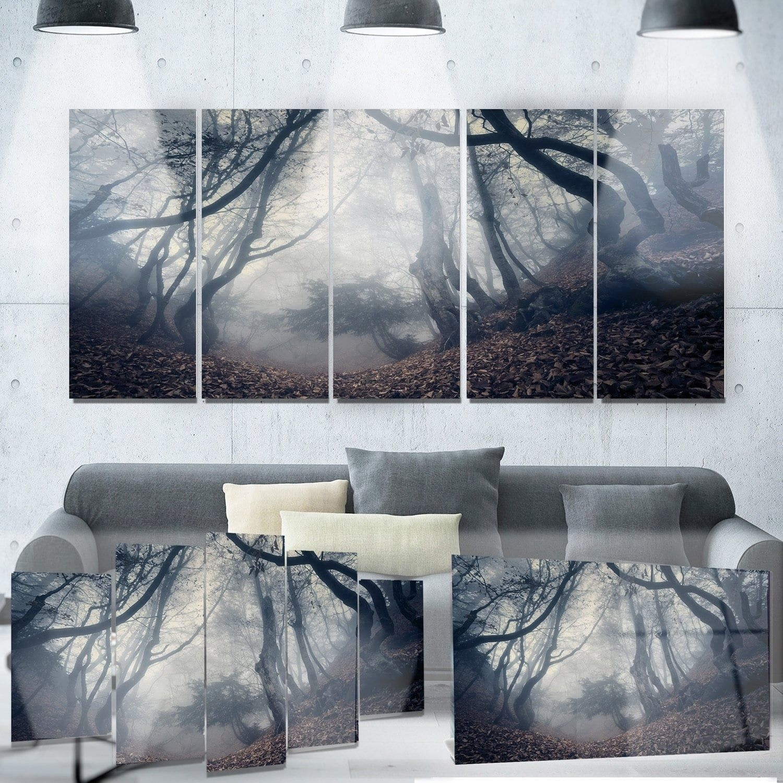 Designart uvintage path in autumn forestu landscape photo products