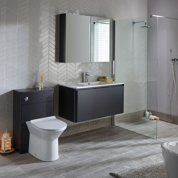 Bathroom Furniture From The Fife Bathroom Range From Highlife Bathrooms This Suite Is Availab Wood Effect Floor Tiles White Wall Tiles Exterior Doors