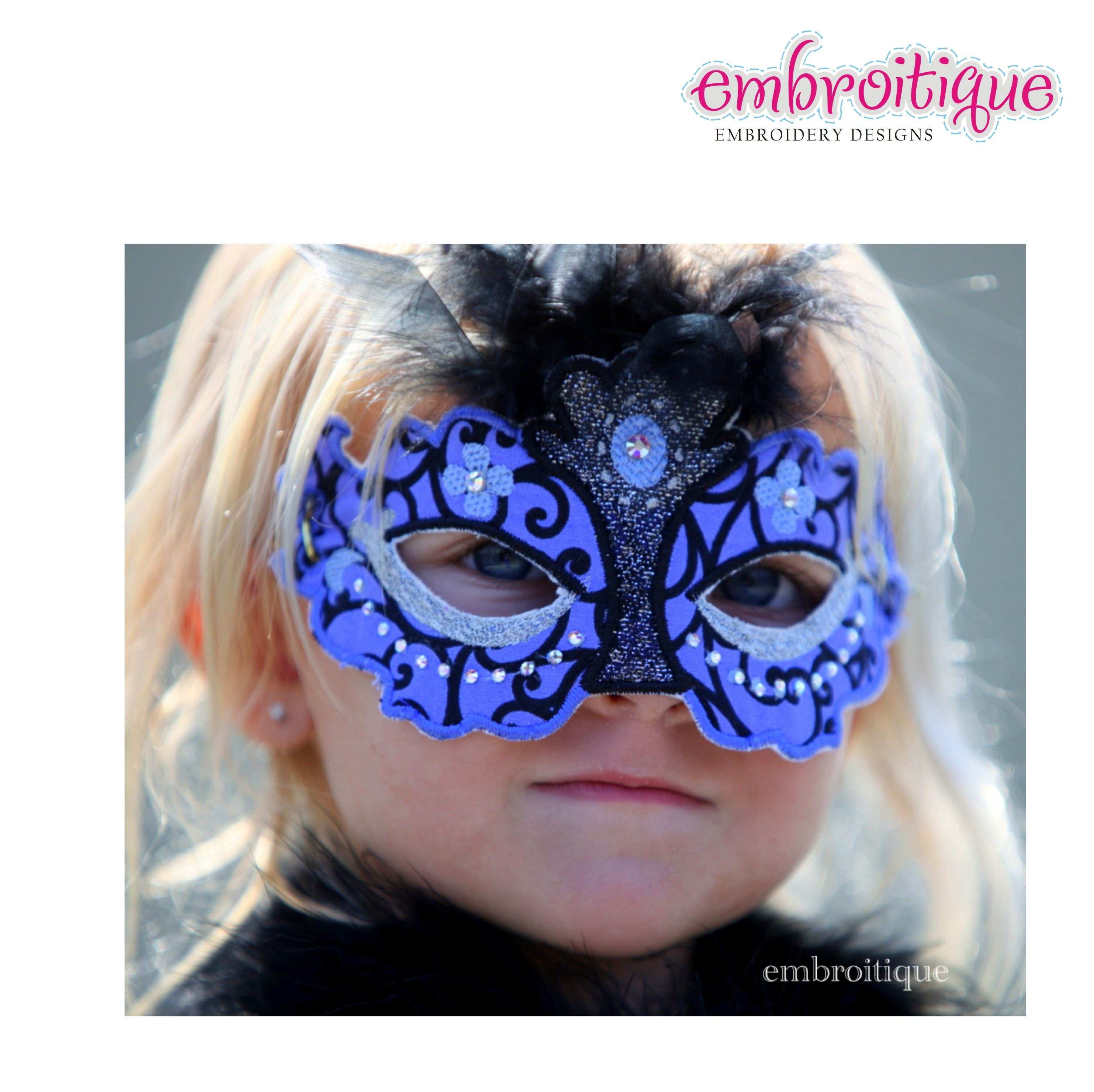 Pretend Play - Princess Mask set - Halloween - Mardi Gras on sale now at Embroitique!