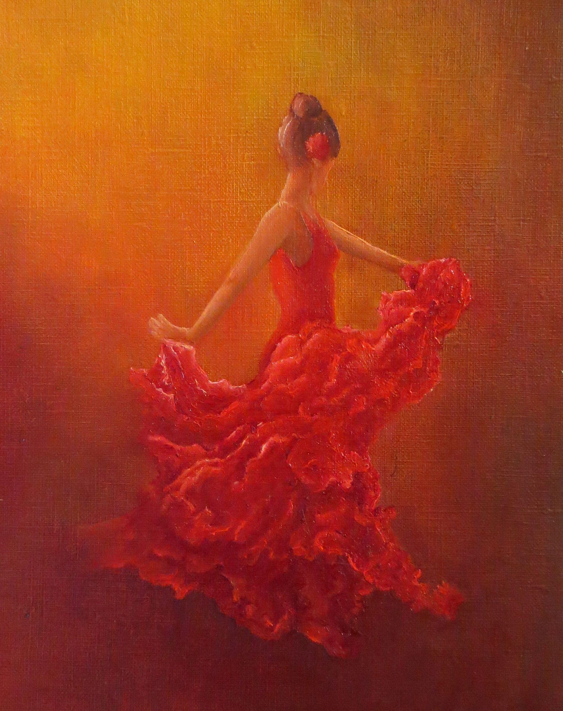 la danseuse de flamenco huile par ana s verderi danseuse de pinterest danseurs de. Black Bedroom Furniture Sets. Home Design Ideas