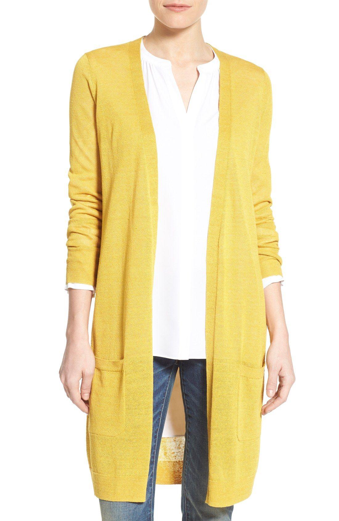 Long Linen Blend Cardigan   Fashion shirts and Fashion