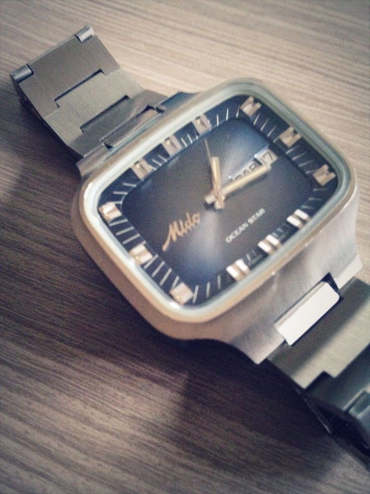 21b603740d6 mido ocean star vintage automatic watch swiss made NOS 1970s rare ...