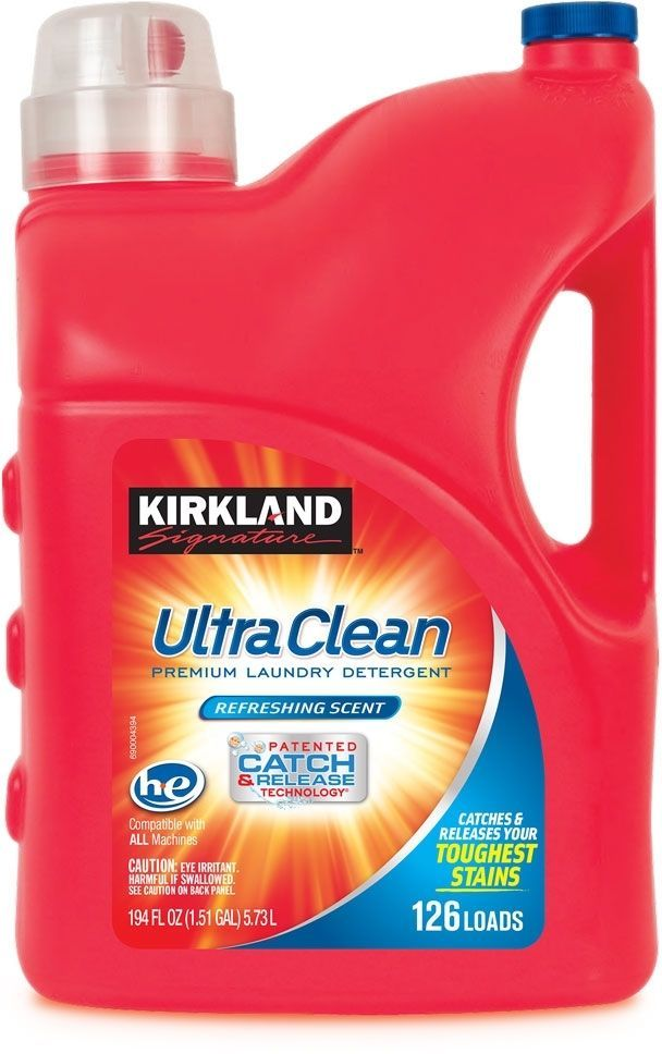 Kirkland Signature Ultra Clean Laundry Detergent 126 Wash Get Now