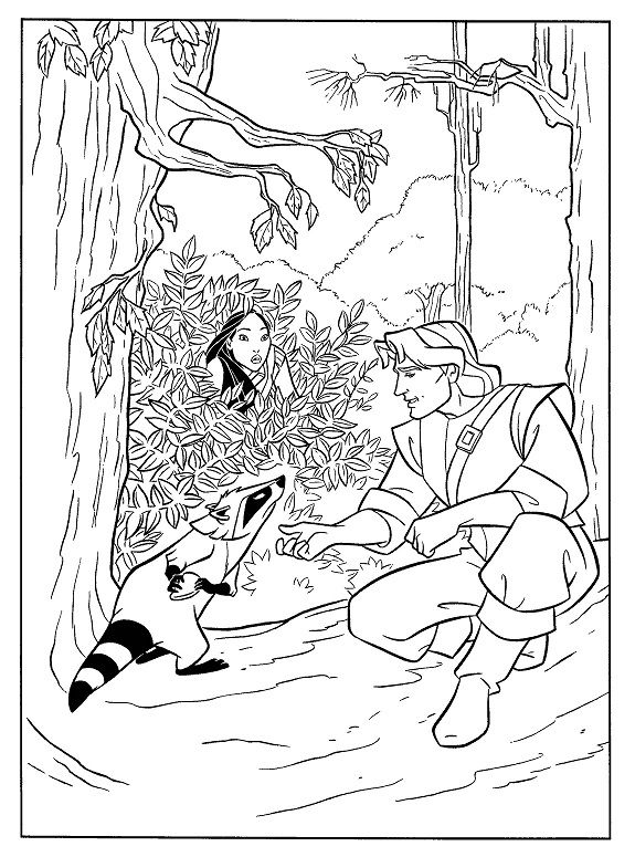 Pocahontas Attention To John Smith Coloring Pages | dibujos ...