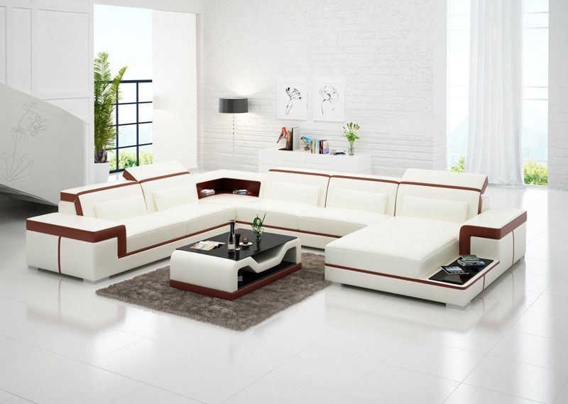 Modern Living Room Sofa Set, Leather Sofas PLUS Coffee Table - sims 3 wohnzimmer modern