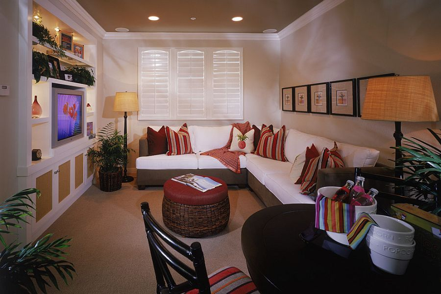 20 Small Tv Rooms That Balance Style With Functionality Small Tv Room Small Media Rooms Tv Room Decor