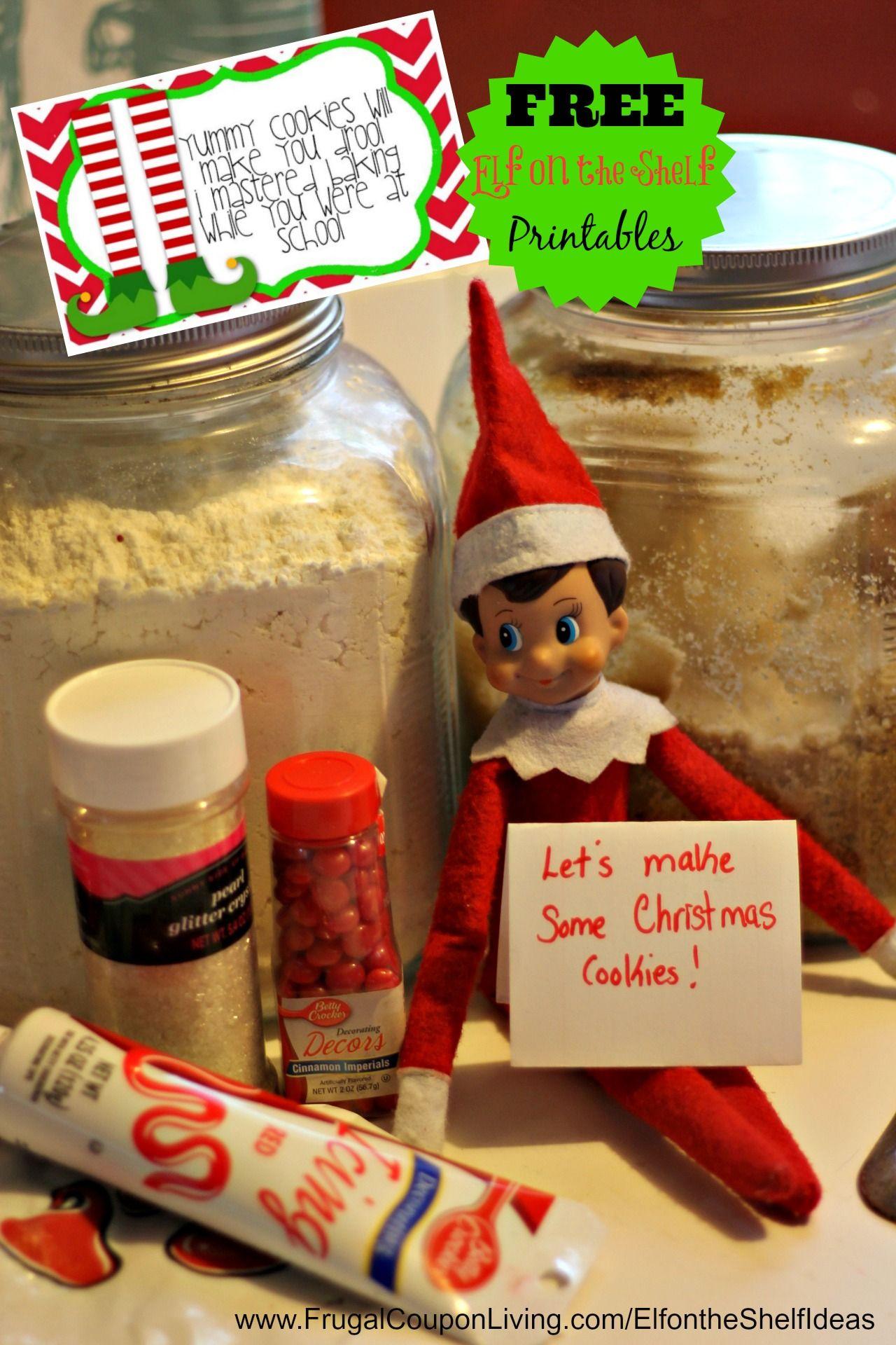 Elf On The Shelf Ideas Elf Bakes Cookies Elf On The Shelf