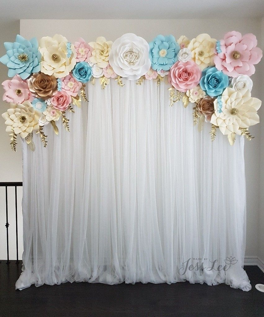 Baby Shower Backdrop : shower, backdrop, Shower, Backdrop, Gender, Reveal., Blue,, Pink,, Ivory,, White,, Theme., Reveal, Shower,, Reveal,, Party