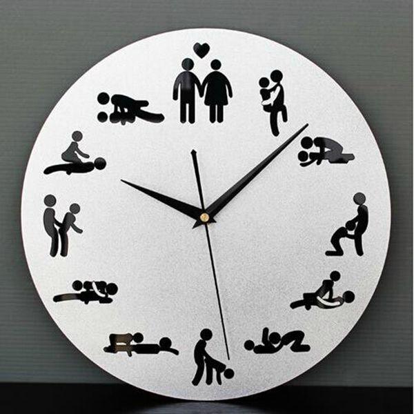 The Clock Of Sex Fun 12 Sex Posture Wall clock Fashion Home Decor