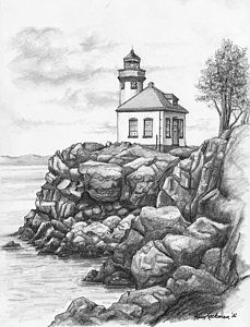 Lighthouse Drawings (Page #2 of 25) | Fine Art Ame