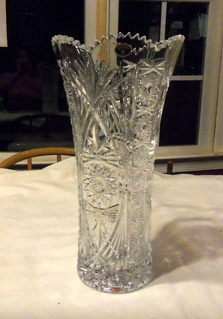 Rp Lead Crystal Bohemia Vase Ebay Com Vintage Cut Crystal