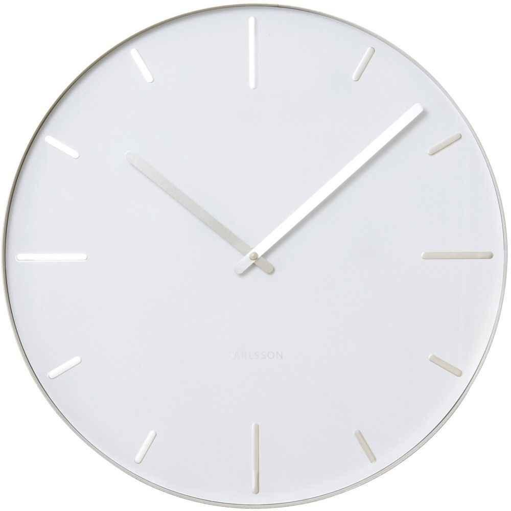 Karlsson Wandklok Karlsson Belt White Wall Clock 40cm 25 In Cargo Kitchen Clock