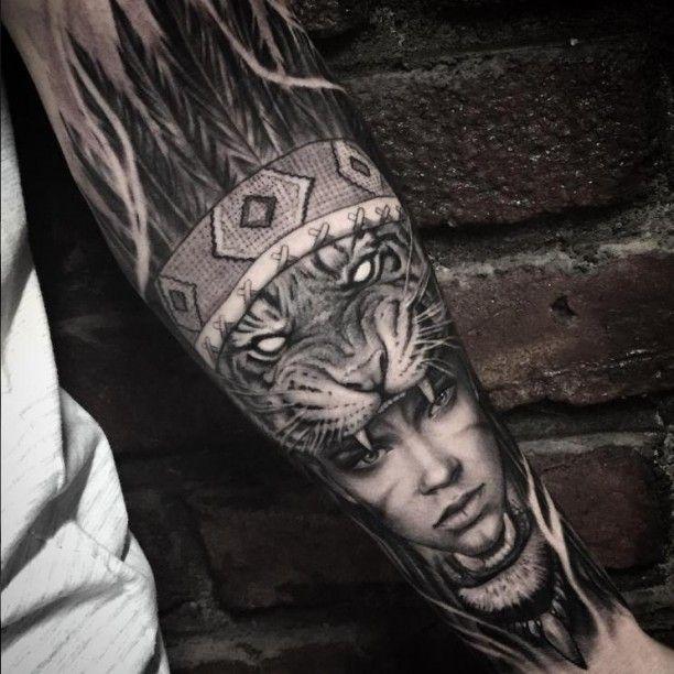 Tattoo Portrat Federstutz Tattoo Pinterest Tatuajes Tatuaje