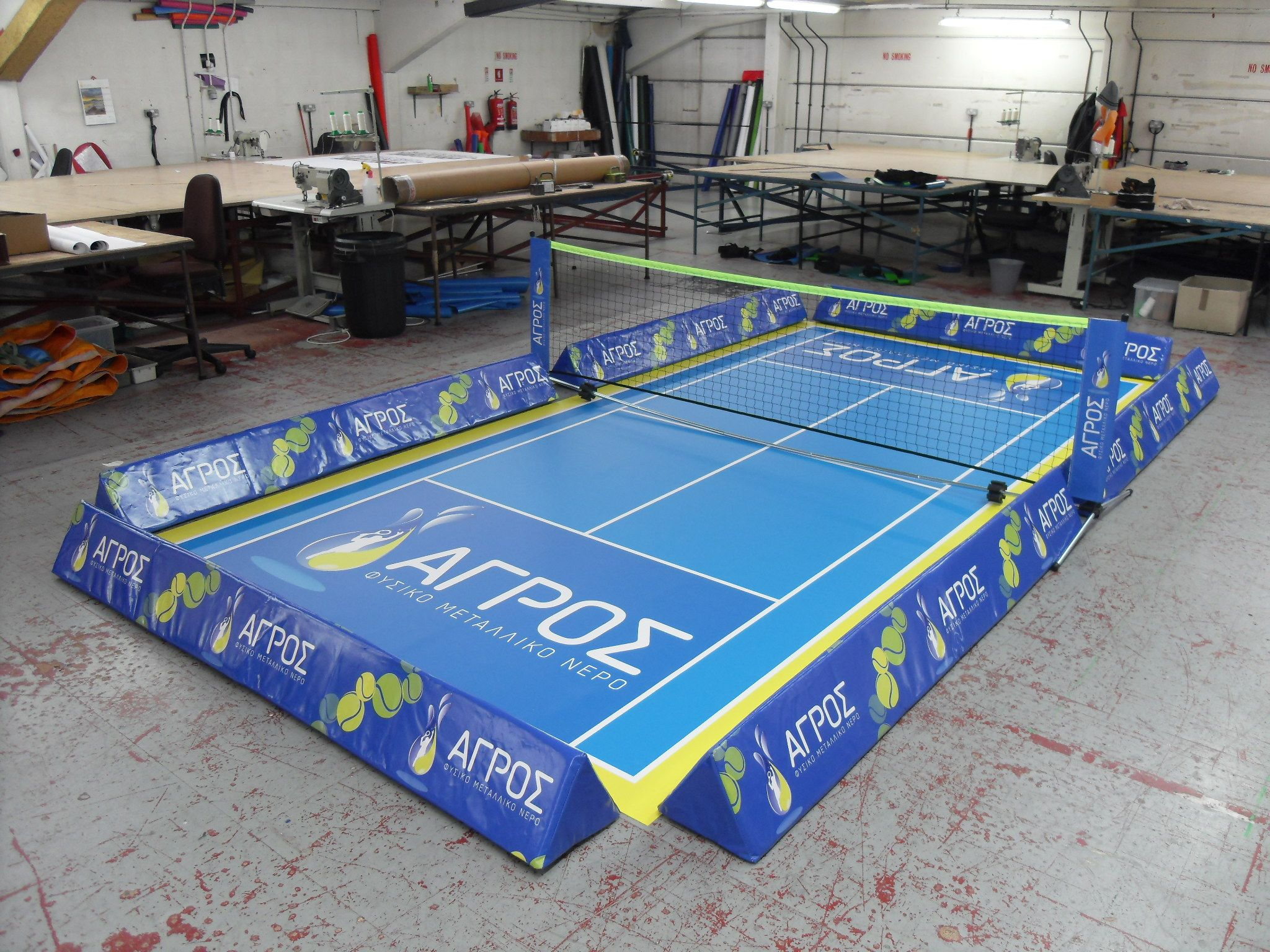 Branded Mini Tennis Court Really Get Into The Spirit Of Wimbledon With Your Own Bespoke Mini Tennis Court Floor Barr Backyard Sports British Sports Sports Mini backyard tennis court