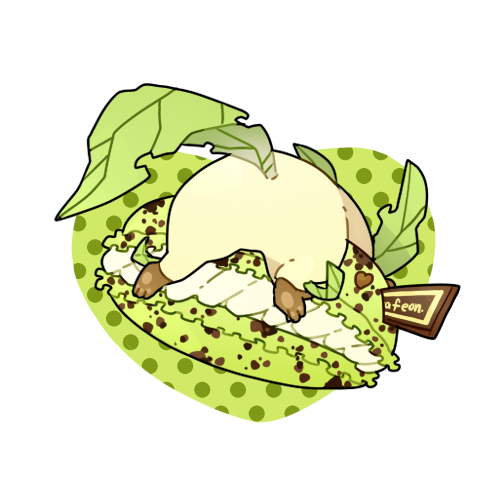 Leafeon likes mint chocolate chip macrons