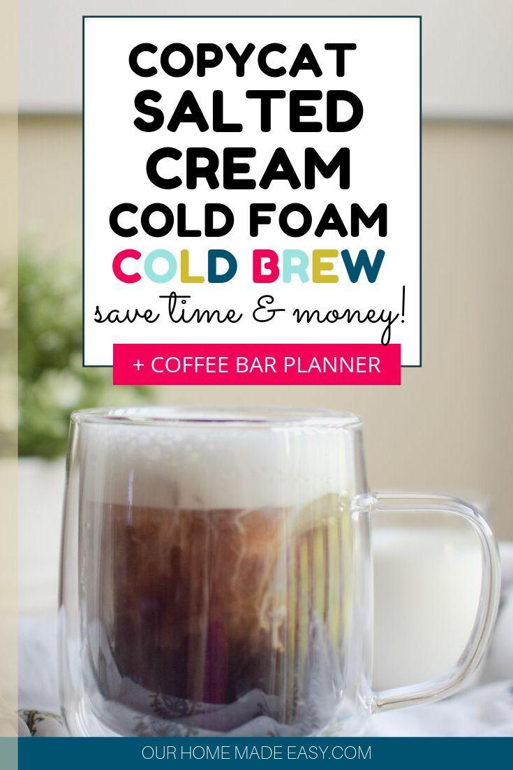 Salted cream cold foam cold brew recipe coffee drink