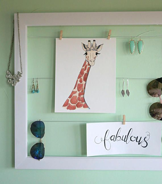 Giraffe with tiara tiara art princess decor girl room