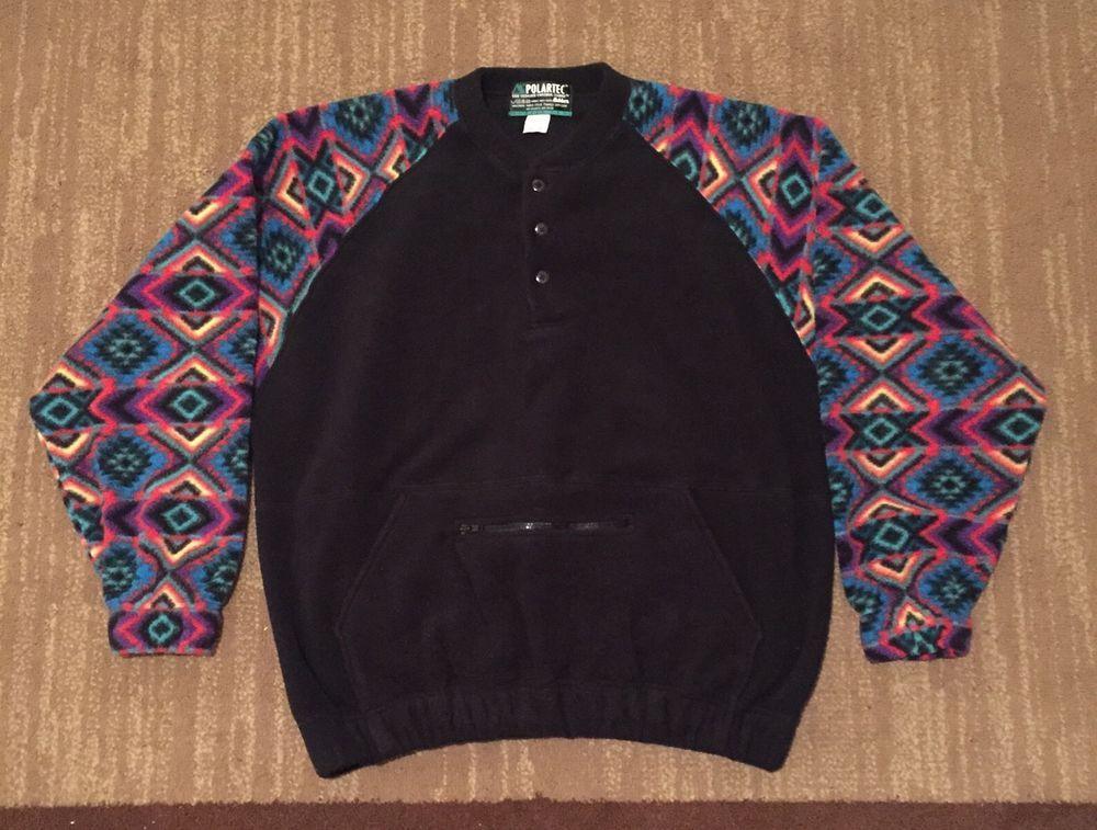 Polartec Brand Series 200 Retro 90's Fleece Pullover SZ M Vintage ...