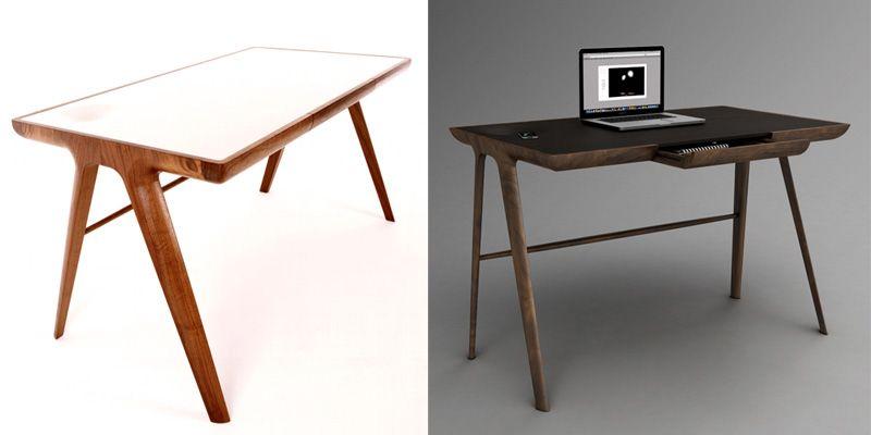 10 escritorios de diseño para cambiar el look a tu estudio | Mesas ...