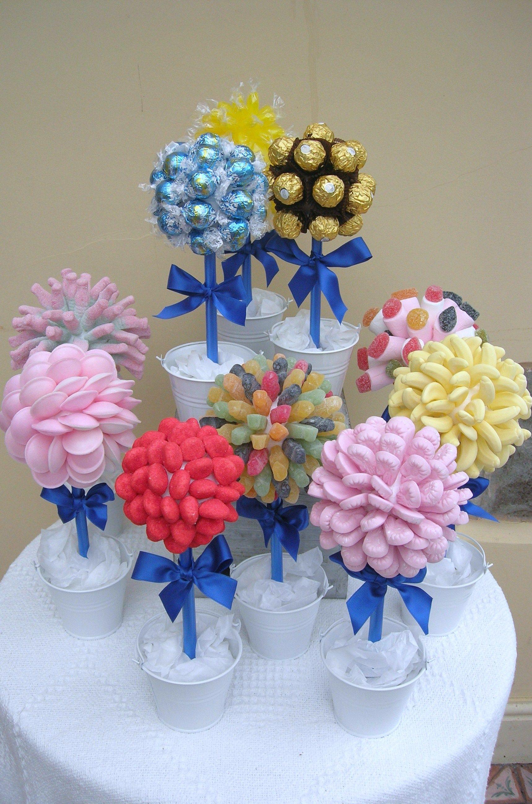 Pin de Jullyana Bastos em Festinhas | Árvores doces, Festas de aniversário  flor, Artesanato de doce