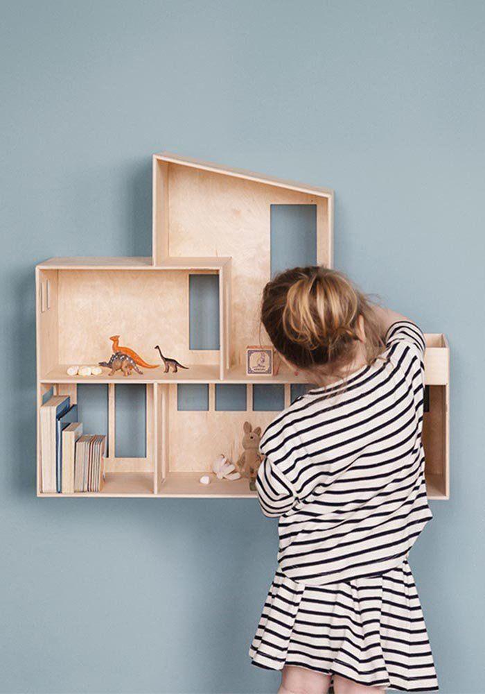 Maison de poupée en bois à customiser Bricolage maison Pinterest
