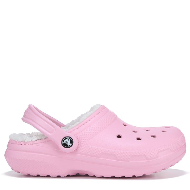 8d6bfdc76986 Crocs Women s Classic Fuzz Lined Clog Shoes (Ballerina Pink Oatme ...