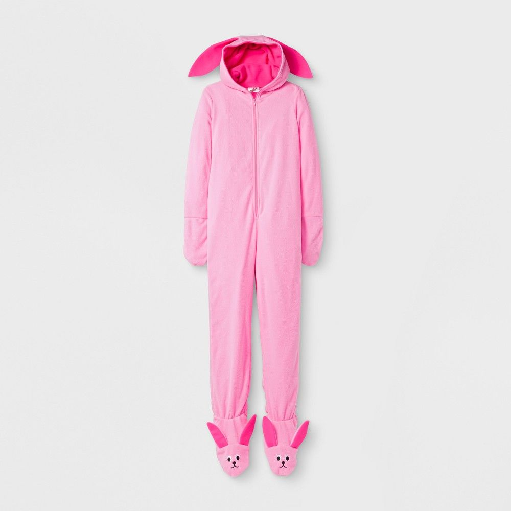 boys a christmas story deranged bunny union suit pink