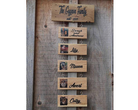Wooden Family Sign wall art decor rustic family decoration wood sign families