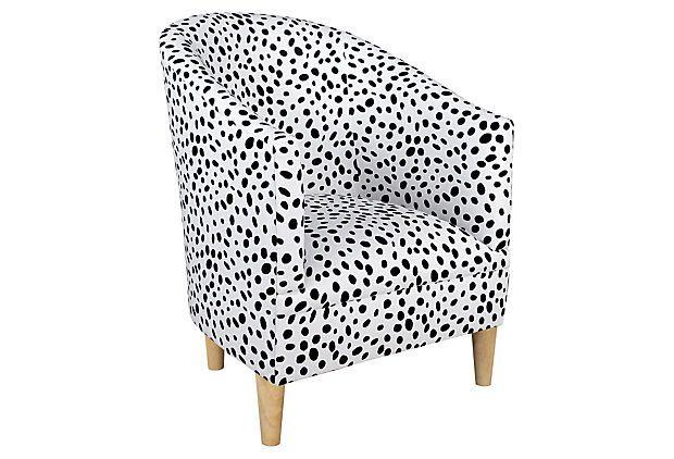 Ashlee Tub Chair Black White Barrel Chair Chair Black Dots
