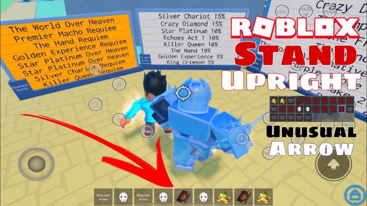 Opening Up Multiple Unusual Charged Stand Arrows In Stand Upright What In 2020 Roblox Unusual Standing Jotaro and koichi vs yoshikage kira supercutjojo supercuts and more. stand upright