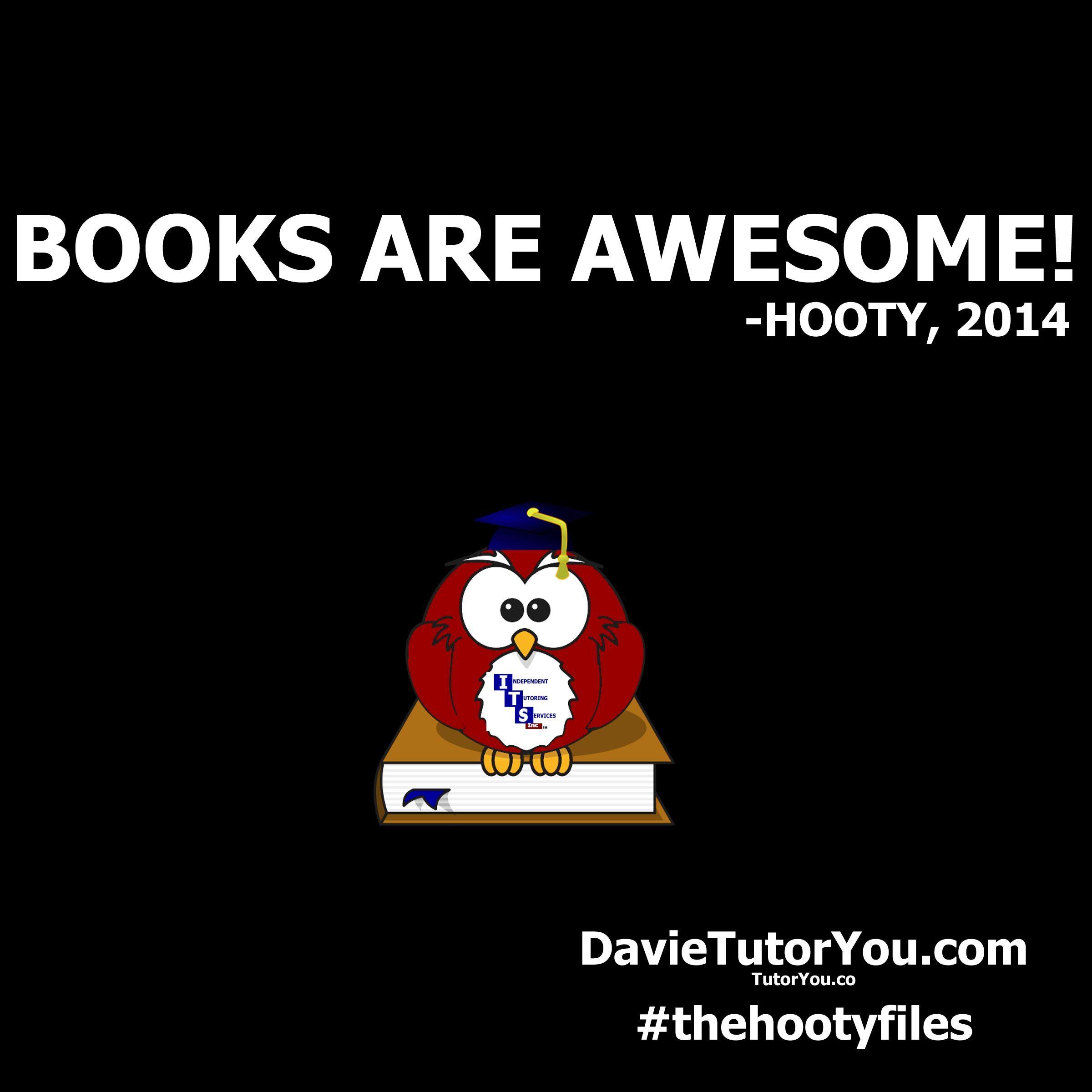 Whoo likes books?  Hooty does!