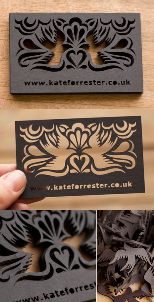 Intricate Laser Cut And Etched Metal Business Card For An ...