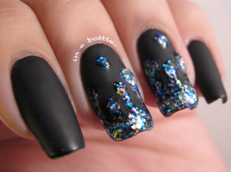 Black nail designs engage a lot of styles: from rock-inspired themes ...