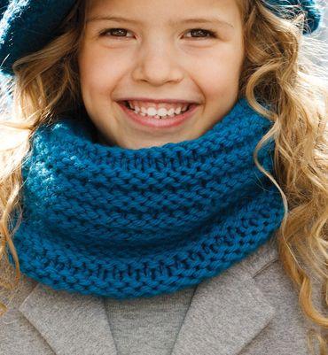 modele tricot gratuit snood garcon