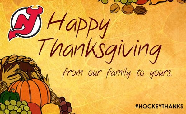 Hockeythanks Twitter Search New Jersey Devils Prudential Happy Thanksgiving