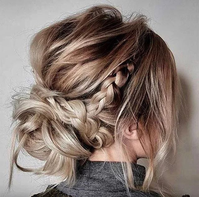 Gorgeous Messy Updo Updos For Medium Length Hair Mid Length Hair Medium Hair Styles