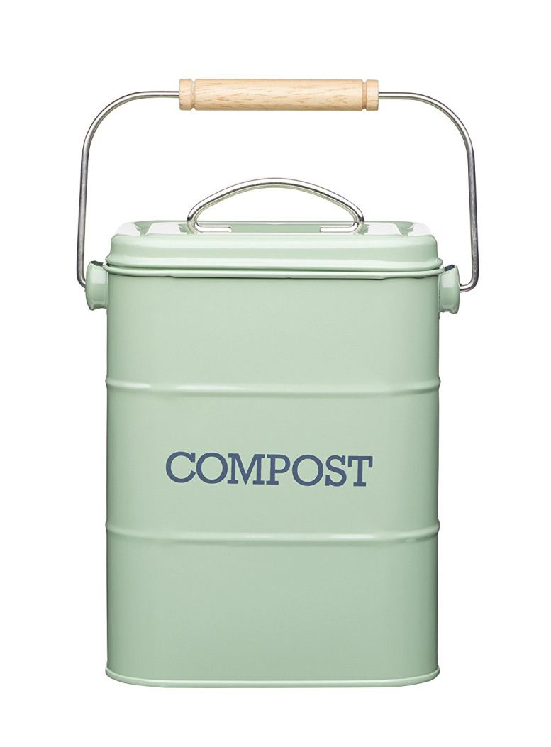 Incroyable Metal Kitchen Compost Bin With A Carbon Filter, Plus A Replacement Filter # Compost #caddy #kitchen #bin