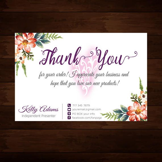 Younique Thank You Card Elegant Younique Thank You Cards Younique