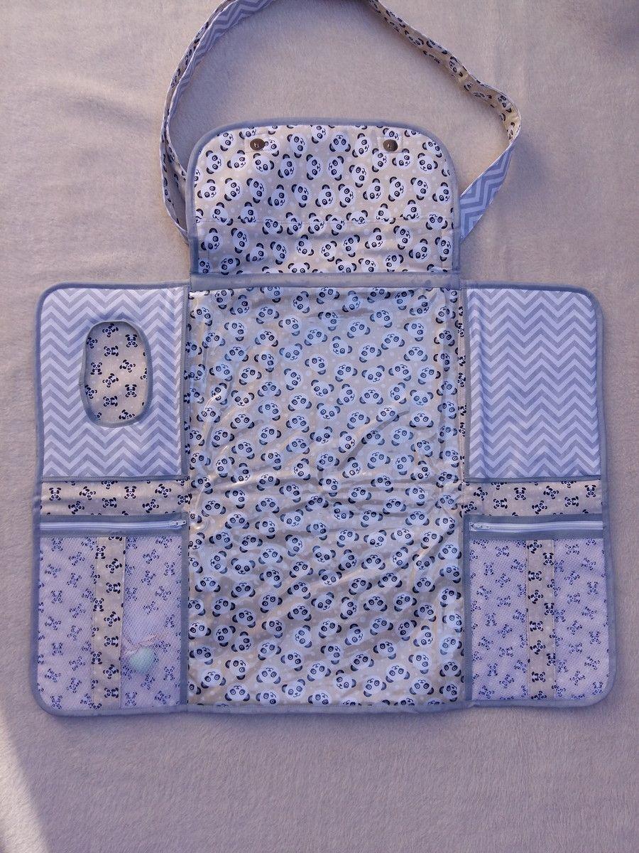 Bolsa De Tecido Bebe : Bolsa trocador de fraldas com nome