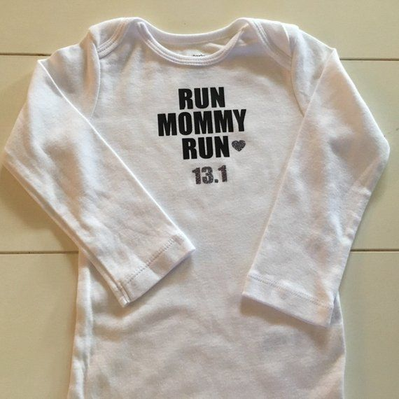 cad247937d916 baby half marathon shirt, running bodysuit, run mommy run, kid ...
