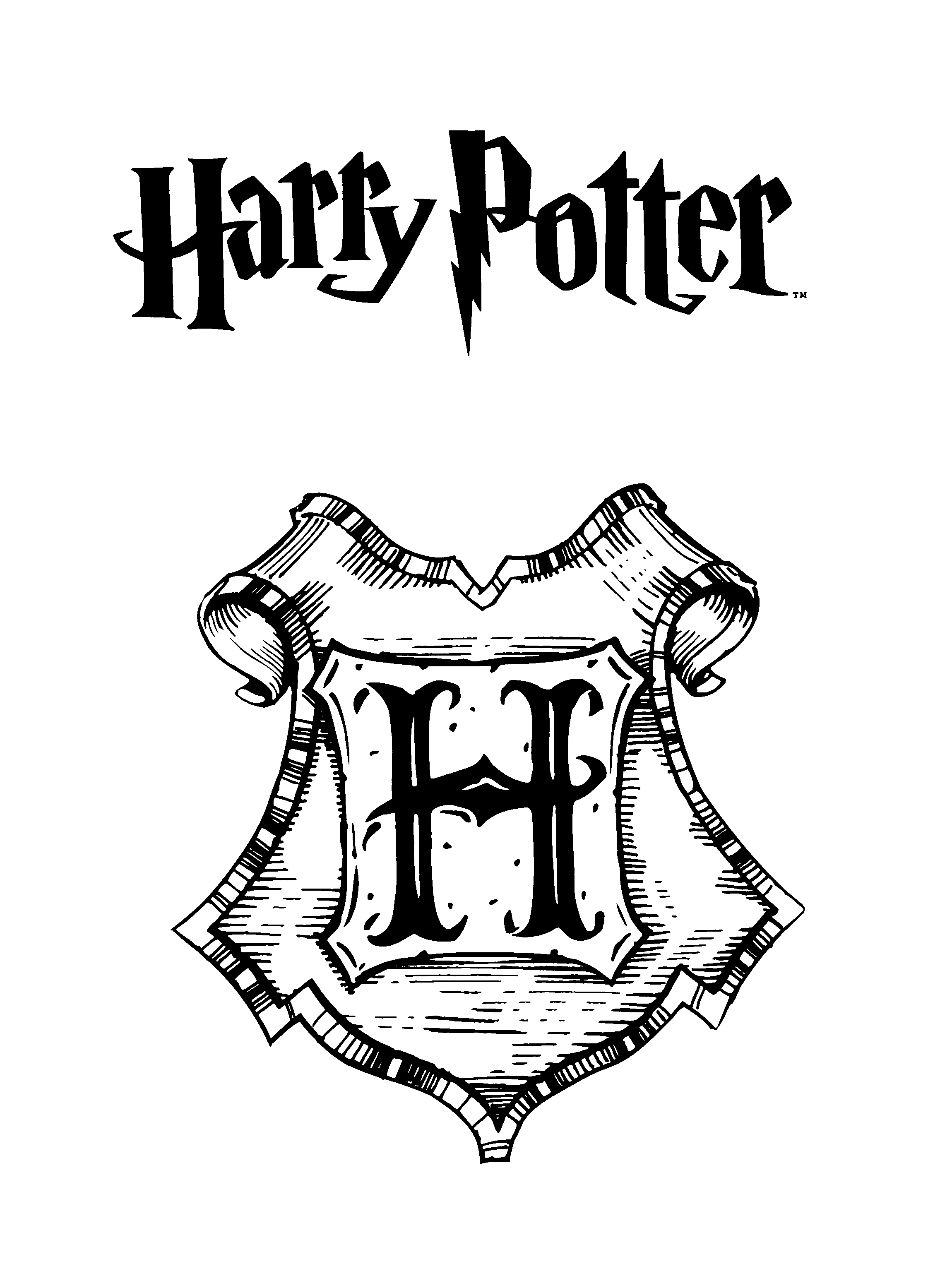 Harry potter crest reading harry potter harry potter coloring pages harry potter colors - Harry potter dessin ...