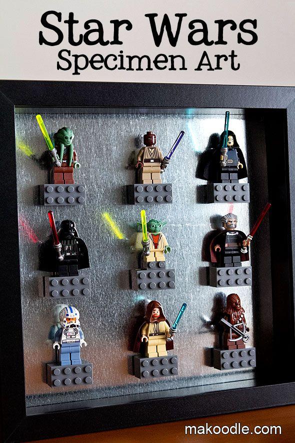 Star Wars Decor Ideas Lego Specimen Art Makoodle Boys Rule