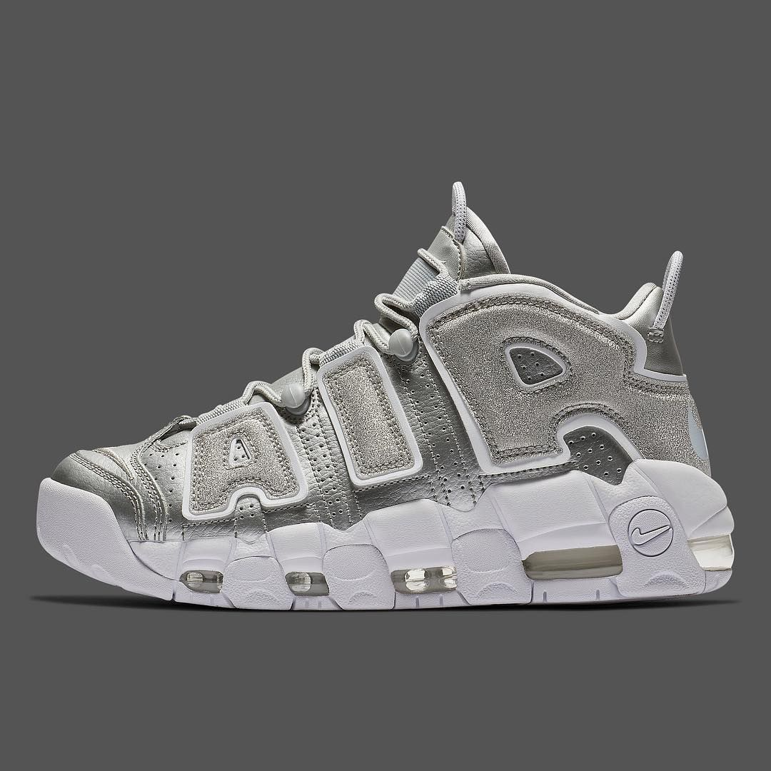 """best authentic 89627 9c683 This Nike Air More Uptempo """"Loud And Clear"""" is releasing exclusively for  women next week. For a closer look at this glistening retro, tap the link  in our ..."""