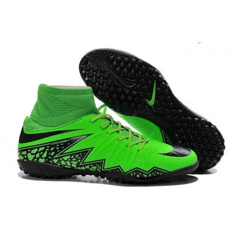 Women Nike Hypervenom II Phantom Premium TF High Green Black