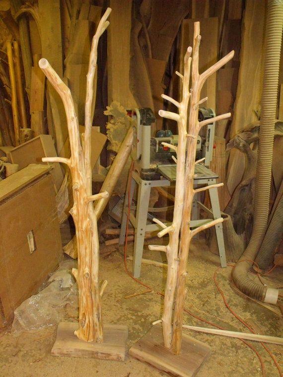 Rustic Coat Trees Towel Trees Or Coat Tree By Dougdeg On
