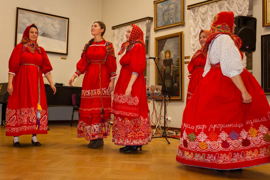 Traditional costume of Russia. Kargopol, Arkhangelsk